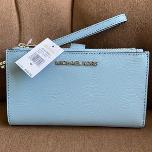 Michael Kors JST LG Double Zip Wristlet Wallet